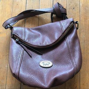 Born brown leather crossbody purse